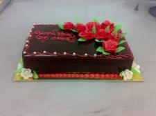 Çikolatalı Çiçekli Yaş Pasta
