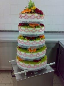 Çok Katlı Düğün Nişan Pastası